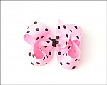 Pink & Black Polka Dots Big Girl Hair Bows