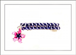 Pink and Purple Flower Swarovski Hair Barrettes