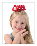 Red & White Hearts Big Girl Hair Bow