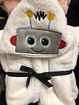 Robot Hooded Towel