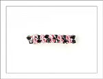 Pink and Black Swarovski Crystal Hair Barrette