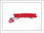 Strawberry Swarovski Crystal Hair Barrette