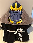 Angry Titan Supervillain Hooded Towel
