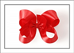Valentine's Day Red Satin Baby Girl Hair Bows